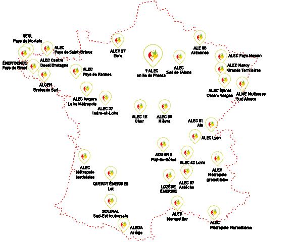 cartographie des ALEC en France